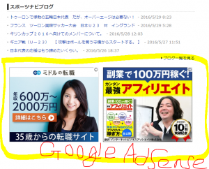 Goolge Adsense例