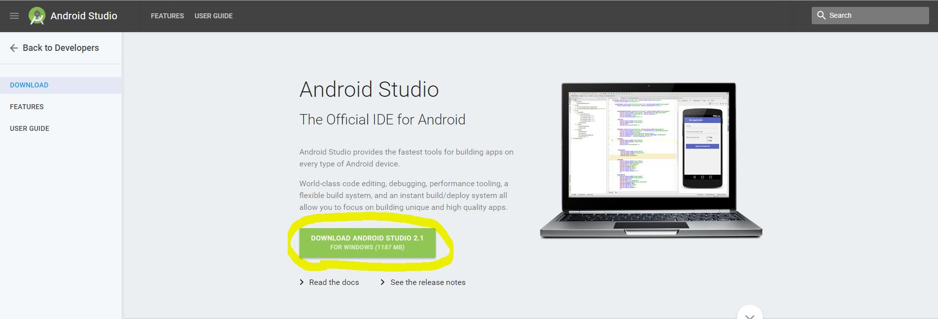 AndroidStudioインストール01